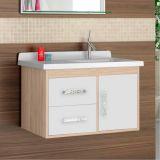 Gabinete Para Banheiro Canopus 2G 1 Porta 2 Gavetas Berlin e Branco Cerocha