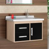 Gabinete Para Banheiro Canopus 2G 1 Porta 2 Gavetas Berlin e Preto Cerocha