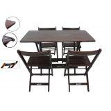 Conjunto Mesa 120x70 Cm 4 Cadeiras Dobráveis