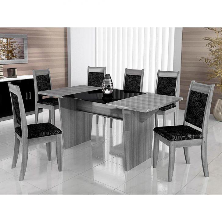 Conjunto 2 Cadeiras Larissa Cinza,Preto
