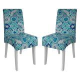Kit 2 Cadeiras Branco Acetinado & Ladrilho Beatriz Cimol