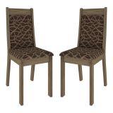Kit 2 Cadeiras de Sala de Jantar Marcela Samba Marrom Primavera Cimol