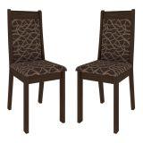 Kit 2 Cadeiras de Sala de Jantar Marcela Carvalho & Cinza