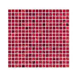 Placa De De Vidro E Pedra Fusion FUS24 Vermelho E Preto Metalizado