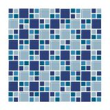 Placa De De Vidro Mini Mondrian 14 Azul