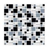 Placa De De Vidro Mini Mondrian 17 Preto