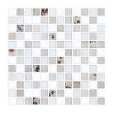 Placa De Pastilha De Vidro E Pedra Fusion FUS10 Branco