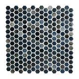 Placa De Porcelana Bistro 03 Azul Escuro