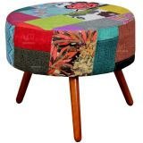 Puff Sofia Decorativo Patchwork 170