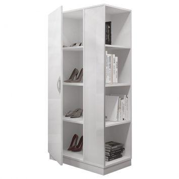 Sapateira SP 500 BCO 1 Porta Branco Completa Móveis Completa Móveis SP 500 BCO