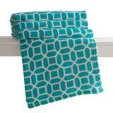 Manta Microfibra Casal 180X220 Home Design Printed Octogono Verde