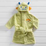 Roupão Bebê com Capuz Microfibra 48x24 Le Petit Baby Zoo Robô
