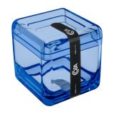 Porta Algodão Cube Azul