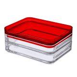 Porta Frios Duo Cristal com vermelho