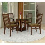Conjunto de mesa e 4 Cadeiras Lana Tabaco D6 Móveis