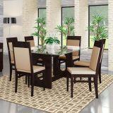 Conjunto de mesa e 6 Cadeiras Sonata Tabaco D6 Móveis