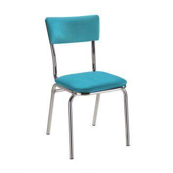 Cadeira Alúminio Com Assento em Linho Turquesa Daf 2003 - 12.0104