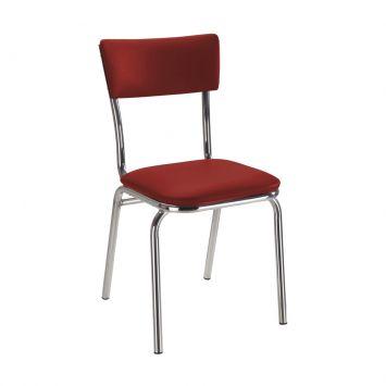 Cadeira Em Aluminio Com Assento Em Couro Vermelho Daf 2003 - 12.0083