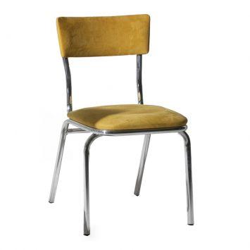 Cadeira Em Aluminio Com Assento Em Suede Amarelo Daf 2003 - 12.0093