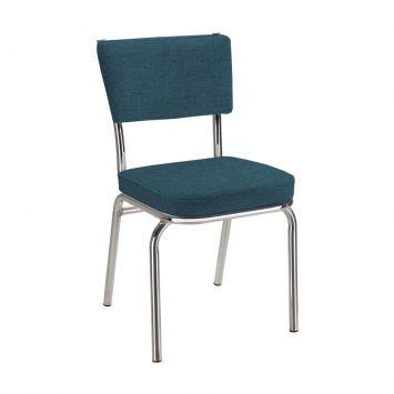 Cadeira Em Aluminio Com Assento EmLinhão Azul Daf 2003 - 22.0087