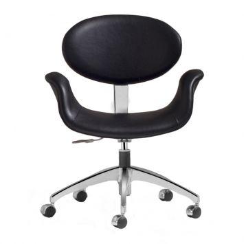 Cadeira de Escritório Estrela Couro Sintético Preto Daf 2055 - 1.0049