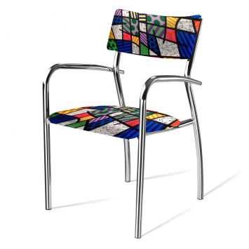 Cadeira de Escritório Fixa Landscape Cromada Daf F17 - 1B. 0002