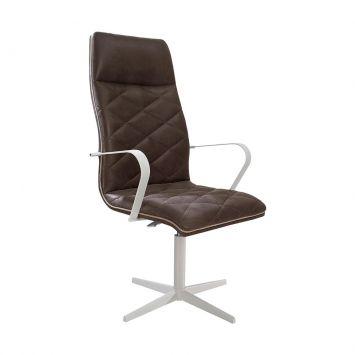 Cadeira de Escritório Giratória Pint Jobs Fendy Marrom Daf Daf 81030007