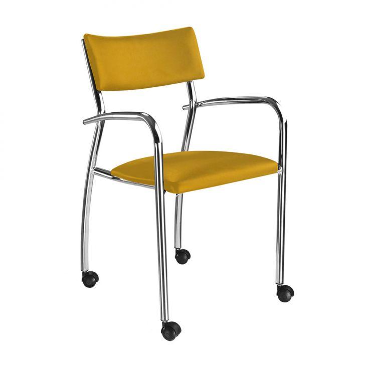 Cadeira de Escritório Orlando Suede Amarela
