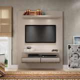 Home Theater Suspenso para TV 100% MDF TB106E Nobre/Fendi - Dalla Costa