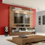 Home Theater Suspenso para TV 100% MDF TB107E Nobre/Fendi - Dalla Costa