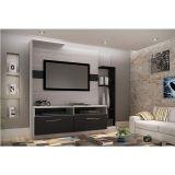 Estante Home Theater para Tv de até 52 ES111 Positano/Preto - Decibal Móveis