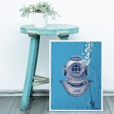 Poster  Blue Diver A4