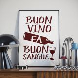 Poster A4 Buon Vino