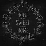 Quadro Black Sweet home