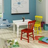 Conjunto Mesa com 2 Cadeiras Infantis - Madeira Maciça Torneada