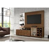Estante Home Theater com Cristaleira New Turati Deseo Castanho