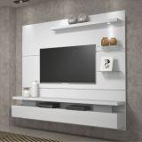 Home Suspenso para Tv Greco Rústico Branco - Dj Móveis