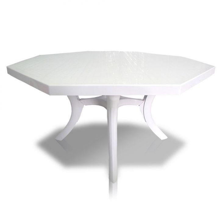 Mesa Plástica Octagonal Olímpo Branca Dolfin