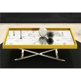 Mesa de Centro com Espelho Amarelo