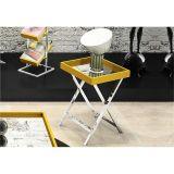 Mesa de Lateral com Espelho Amarelo