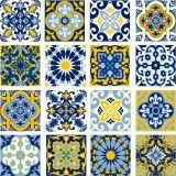 Adesivo de Parede Azulejinho  Lisboa Azul 10x10cm Dona Cereja