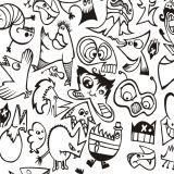 Papel de Parede Adesivo Cartoon 50x1040cm Branco Dona Cereja