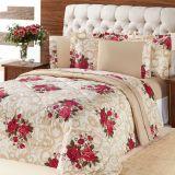 Kit Murano Queen 3 Pecas-Bouquet Vermelho