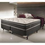 Conjunto Cama Box Casal Soft Comfort Preto Antiácaro, Antifungo e Antialérgico 158x188cm