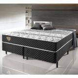 Conjunto Cama Box de Casal King Size Soft Comfort Preto - Antiácaro, Antifungo e Antialérgico - (193X203X48 cm)