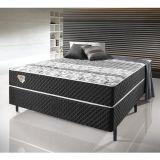 Conjunto Cama Box de Casal Soft Comfort Preto c/ Sistema Antiácaro, Antifungo e Antialérgico - (138x188 cm)
