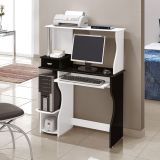 Mesa Para Computador Brigite  Branco & Preto  Edn Móveis