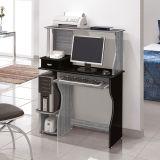 Mesa Para Computador Brigite Carv TQ & Preto  Edn Móveis