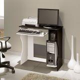 Mesa Para Computador Livia Branco & Preto  Edn Móveis