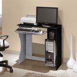 Mesa Para Computador Livia Carv TQ & Preto  Edn Móveis